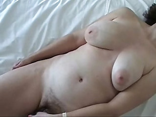 Big titty wife enjoying favorite vib