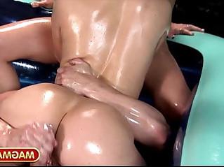 Mia magma oiled lesbian fight