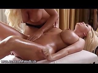 Busty asian masseuse finger lez