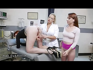 Anal gaping and fisting lesbian threesome