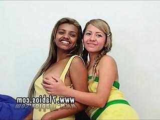 colombians porn star Vanesa And Melany In lesbo Scene