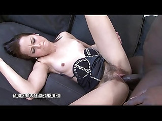 Czech coed Ashley Woods gets pussy pounded with a big black mamba cock