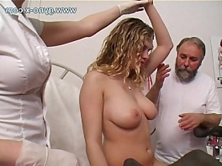 Gyno exam of young busty cam girl