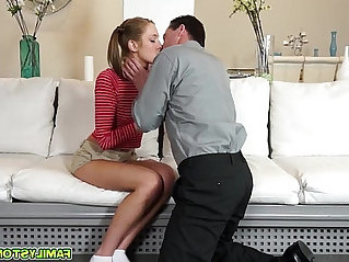 Step dad bangs Molly Mansons stretched pussy