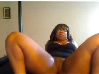 Thick Black Girl Shaking her ass and Fucking Herself again