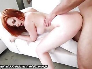 TeenCurves Banging Bootyful busty redhead bombshell babe