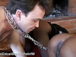 White Boy Licking dominant Black beauty Girl ass