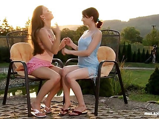 Outdoor Passion by Sapphic Erotica sensual lesbian sex scene with Mya and Leil