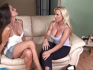 Two hotties who use everything to come