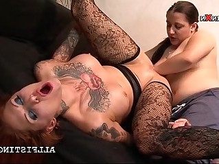 Slutty lesbian having her fuck hole fisted hardcore