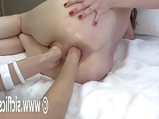 Double Fisting Her Prolapsing Ass