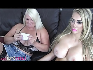 Lesbian grandmother rims and gets licked