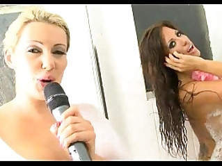 hot telephone TV sex babes showering