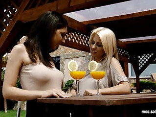 Mimosa munching by sapphic erotica lesbian sex with henessy elma