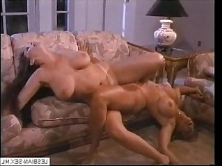 Blonde and brunette lesbians suck and rub pussies together on Visit for CA