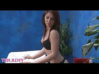 Girl undresses before guy