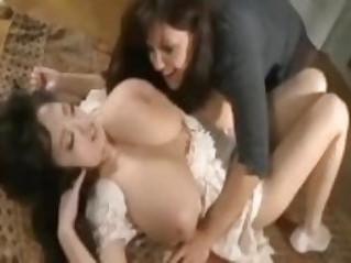 Lesbian Love Sucking Huge Tits