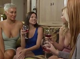 Lesbian sisters enjoying their taboo fucking sessions