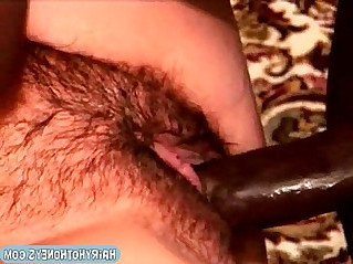 Massive hairy mature interracial nailed