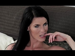 StrapOn Hot lesbians in black white lingerie fucking each other
